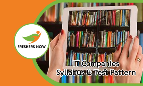 IT Companies Syllabus & Test Pattern