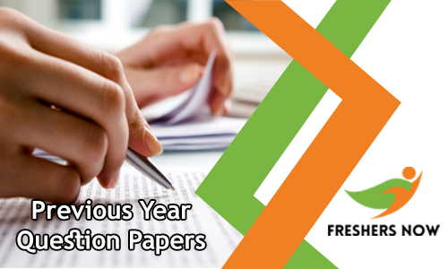 Previous Year Question Papers PDF Download - Solved Model Papers