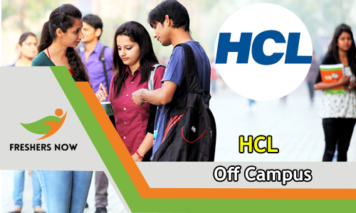 HCL Off Campus 2019 Drive | Freshers | 2018, 2019 & 2020