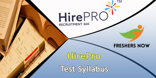 HirePro Test Syllabus
