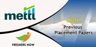 Mettl Previous Placement Papers