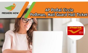 AP Postal Circle Postman Hall Ticket