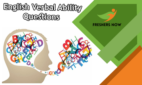 English Questions | Verbal Ability Questions and Answers