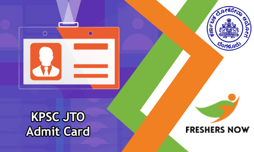 KPSC JTO Admit Card