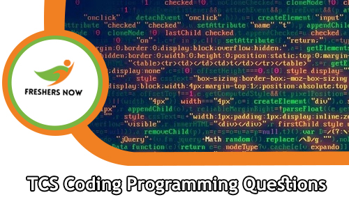 TCS Coding Programming Questions with Answers PDF Download