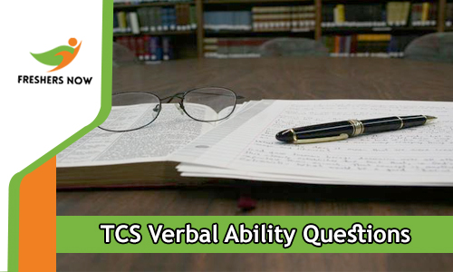 TCS Verbal Ability Questions