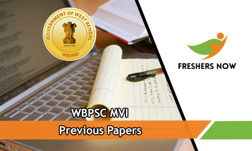 WBPSC MVI Previous Papers