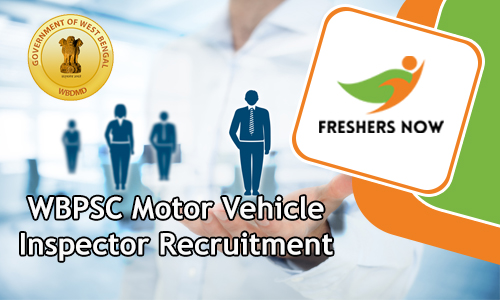 WBPSC Motor Vehicle Inspector Recruitment