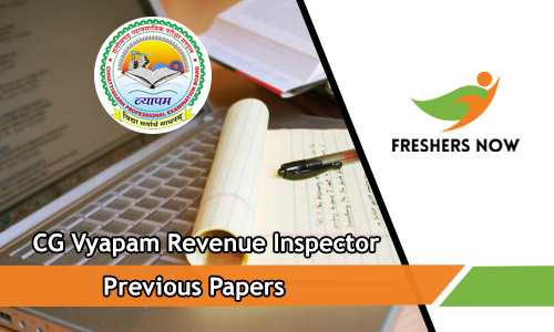 CG Vyapam Revenue Inspector Previous Papers