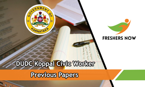 DUDC Koppal Civic Worker Previous Papers