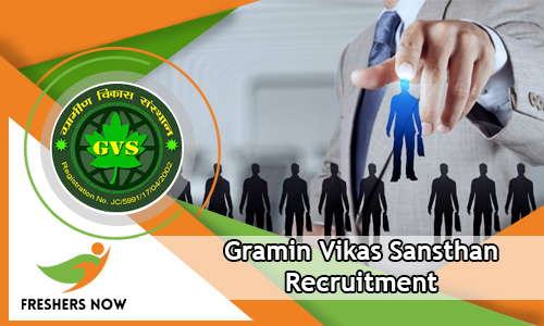Gramin Vikas Sansthan Recruitment 2018-2019 GVS Notification