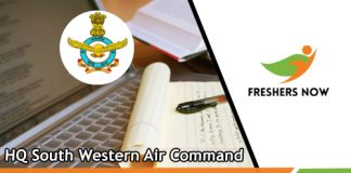 HQ South Western Air Command Previous Papers
