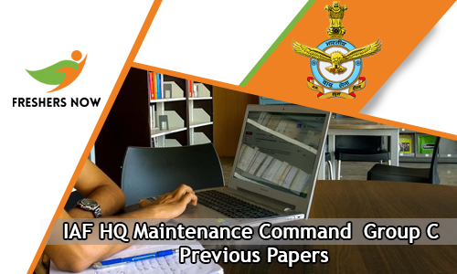 IAF HQ Maintenance Command Group C Previous Papers