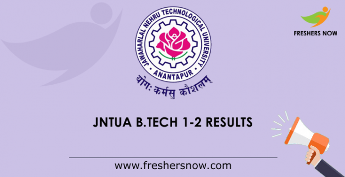 JNTUA B.Tech 1-2 Results