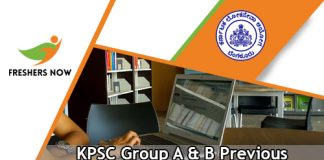 KPSC Group A & B Previous Papers