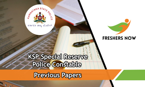 KSP Special Reserve Police Constable Previous Papers