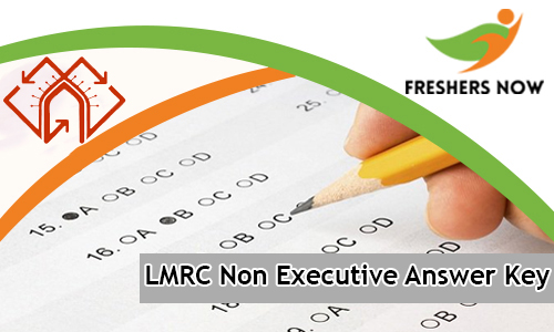 LMRC Non Executive Answer Key