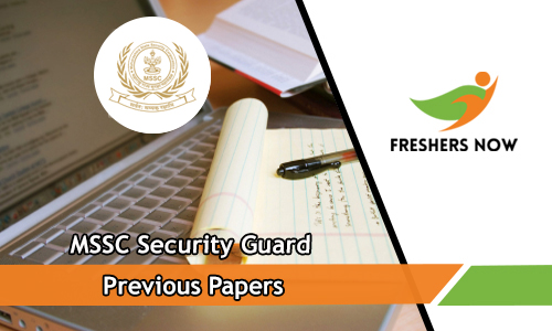 MSSC Security Guard Previous Papers