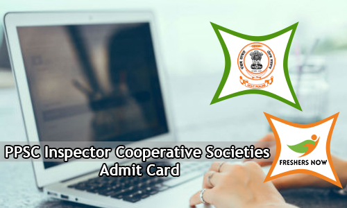 PPSC Inspector Cooperative Societies Admit Card