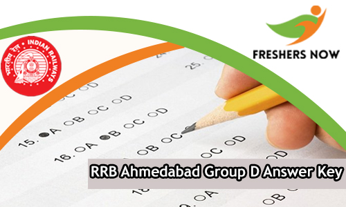 RRB Ahmedabad Group D Answer Key
