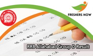 RRB Allahabad Group D Result