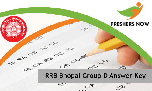 RRB Bhopal Group D Answer Key