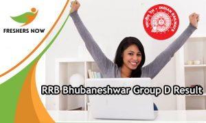RRB Bhubaneshwar Group D Result