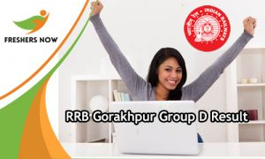 RRB Gorakhpur Group D Result