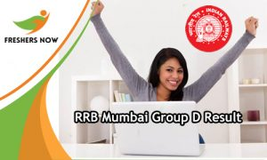 RRB Mumbai Group D Result
