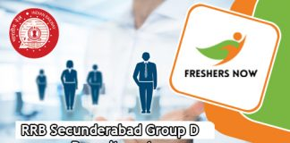 RRB Secunderabad Group D Jobs