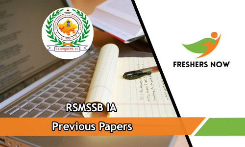 RSMSSB IA Previous Papers