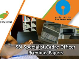 SBI Specialist Cadre Officer Previous Papers