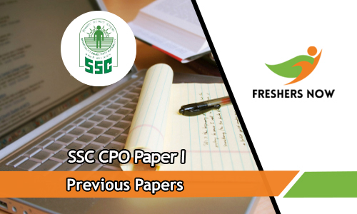 SSC CPO Paper I Previous Papers