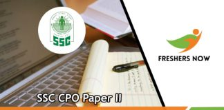 SSC CPO Paper II Previous Papers