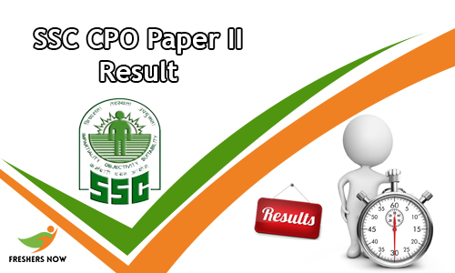 SSC CPO Paper II Result