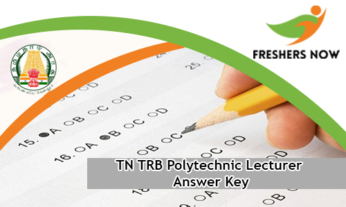 N TRB Polytechnic Lecturer Answer Key