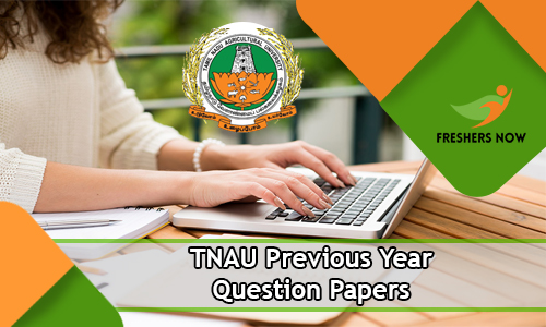 TNAU Previous Year Question Papers PDF Download - Model