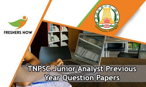 TNPSC Junior Analyst Previous Year Question Papers