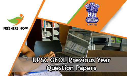 UPSC GEOL Previous Year Question Papers