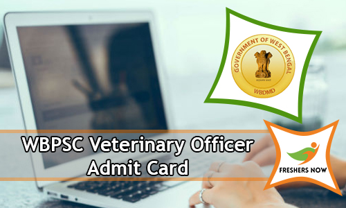 WBPSC Veterinary Officer Admit Card