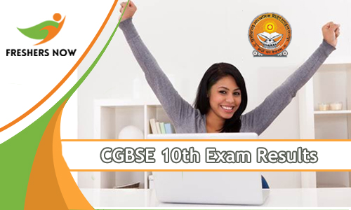 CGBSE 10th exam Results