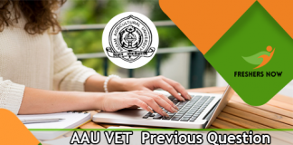 AAU VET Previous Question Papers