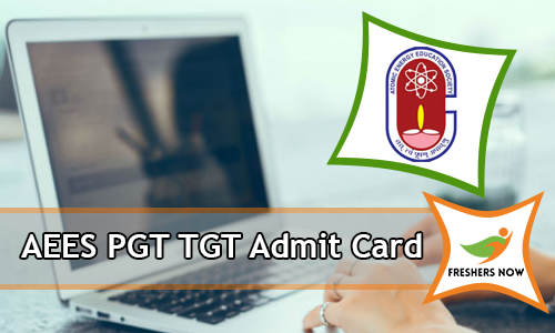 AEES PGT TGT Admit Card