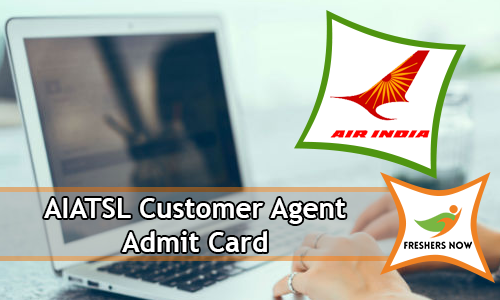 AIATSL Customer Agent Admit Card