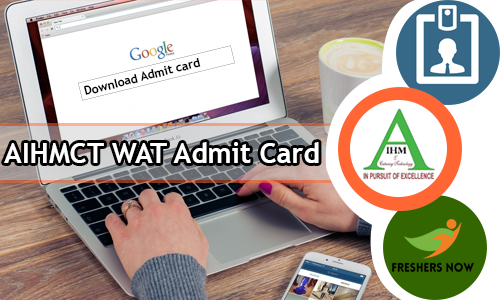 AIHMCT WAT Admit Card