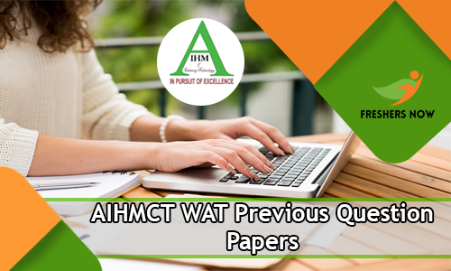 AIHMCT WAT Previous Question Papers
