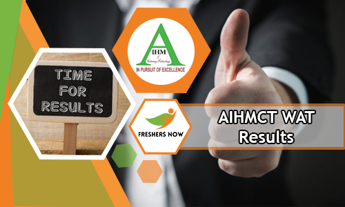 AIHMCT WAT Results 2018-2019 Date - Army Institute of Hotel