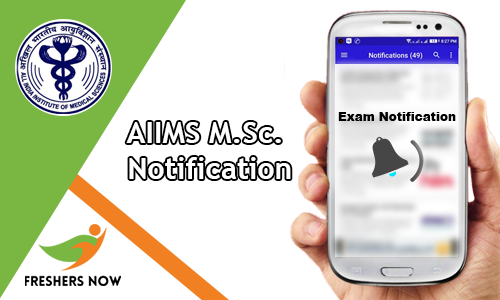 AIIMS M.Sc. Notification