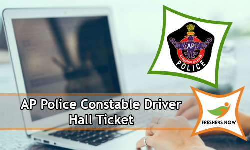 AP Police Constable Driver Hall Ticket