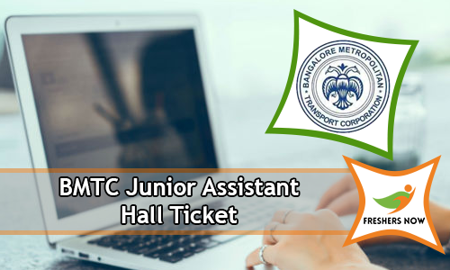 BMTC Junior Assistant Hall Ticket